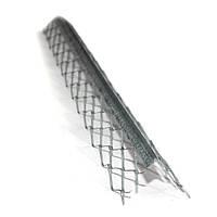 Уголок для мокрой штукатурки с оцинкованой сеткой 3 м