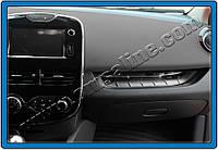 Renault Clio IV 2012+ гг. Накладка на переднюю консоль (нерж.)