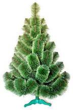 Сосна искусственная зелёная с белым кончиком 1.3 м
