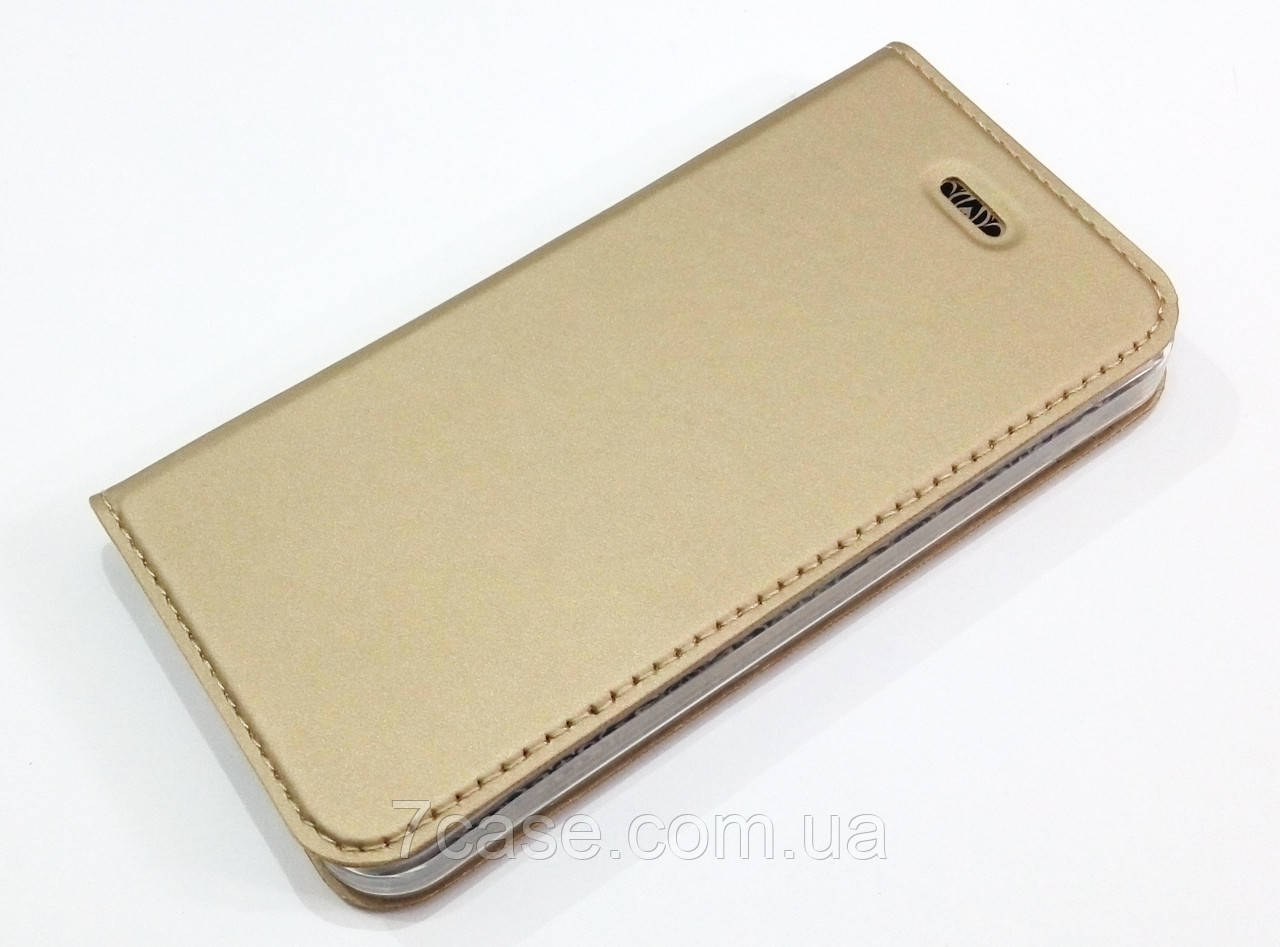 Чехол книжка KiwiS для iPhone 5 / 5s / SE золотой