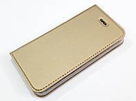 Чехол книжка KiwiS для iPhone 5 / 5s / SE золотой, фото 1