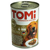 Консервы TOMi 3 kinds of poultry для собак три вида птицы 1.2 кг.