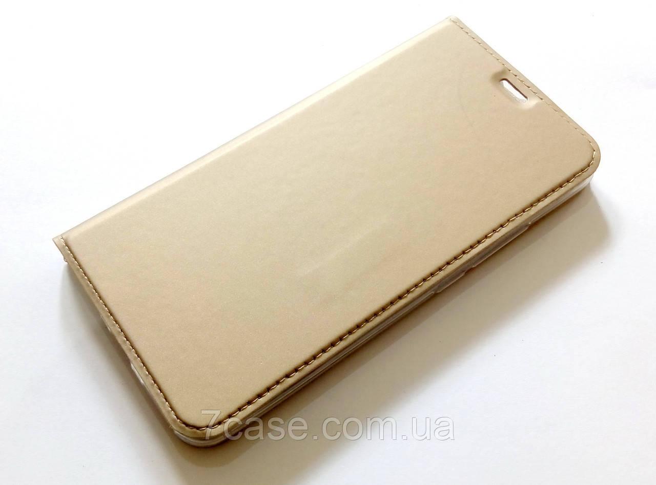Чехол книжка KiwiS для Meizu M5s золотой