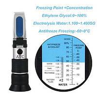 "Рефрактометр для автомобиля RHA-415 ATC(HT415ATC) (0...100% Water, 1,10...1,40 d20/20, 0...-60°C) ""HT415ATC"""
