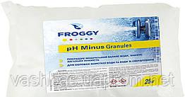 PH - Minus Granules, 25кг мішок, засіб для зниження рівня Ph води. Хімія для басейну FROGGY™