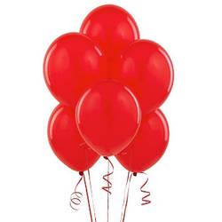 Шар латексный с гелием красный 25 см.
