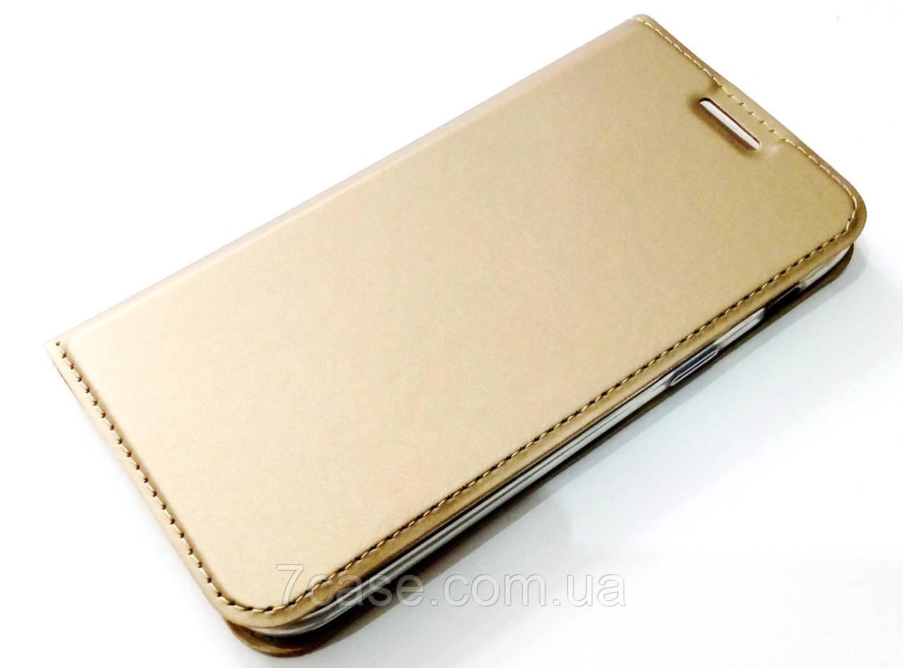 Чехол книжка KiwiS для Samsung Galaxy A3 a320 (2017) золотой