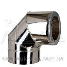 Колено утепленное для дымохода 90 * д.120/220мм толщина 0.5мм