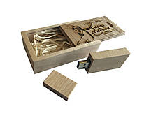 "Флешка SUNROZ Wooden USB Flash Drive деревяный флеш накопитель с гравировкой ""Наша свадьба"" 32 Gb USB(SUN0825), фото 3"