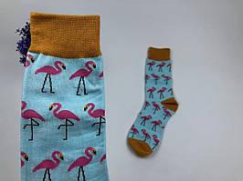 Носки Фламинго (голубой)