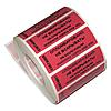 Наклейка номерная индикаторная 20х90 (100), мин.заказ - 100 шт.