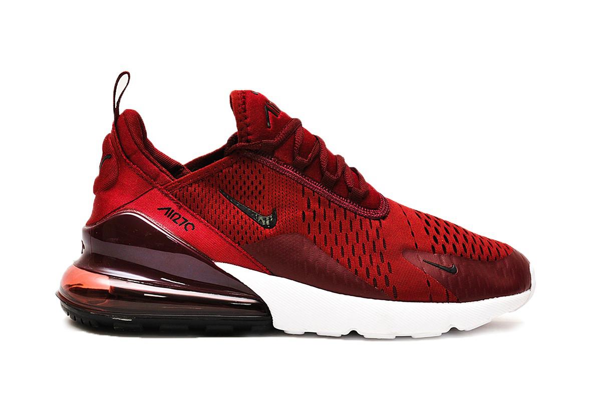 Мужские кроссовки Nike Air Max 270 (бордовые), ТОП-реплика