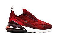 Мужские кроссовки Nike Air Max 270 (бордовые), ТОП-реплика, фото 1