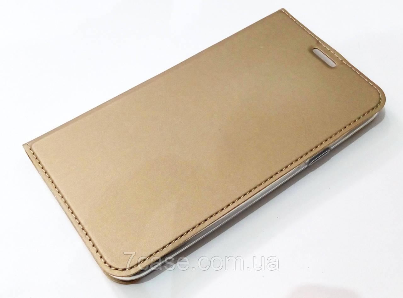 Чехол книжка KiwiS для Samsung Galaxy J7 j700 (2015) / Samsung Galaxy J7 Neo j701 золотой