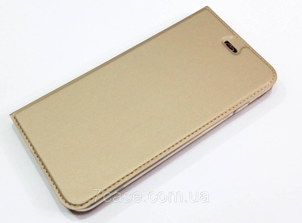 Чехол книжка KiwiS для iPhone 7 Plus золотой