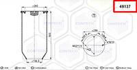 Пневмоподушка SCANIA 3 серия, 4 шпильки-воздух, 4813N, W01M580918 (1107674, 325748   48137)