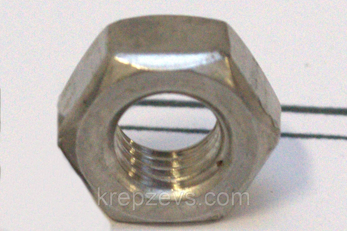 Гайки М30 высокопрочные низкие ГОСТ 5916, DIN 936 класс прочности 8.0, 10.0.