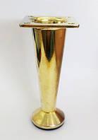 Нога DG 102 100 мм конус золото