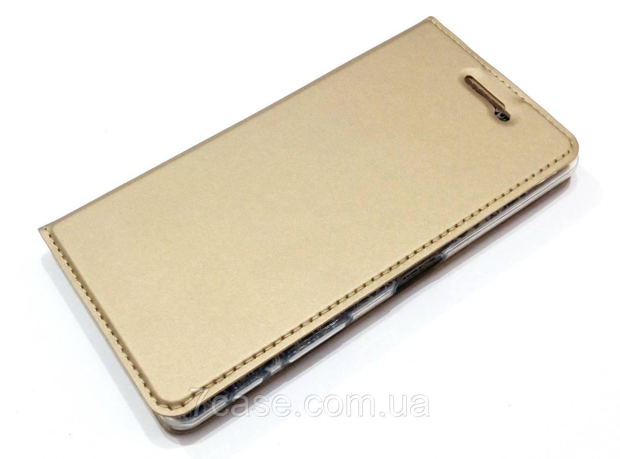 Чехол книжка KiwiS для Sony Xperia X Dual f5122 золотой