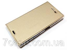 Чехол книжка KiwiS для Sony Xperia XZ f8332 золотой