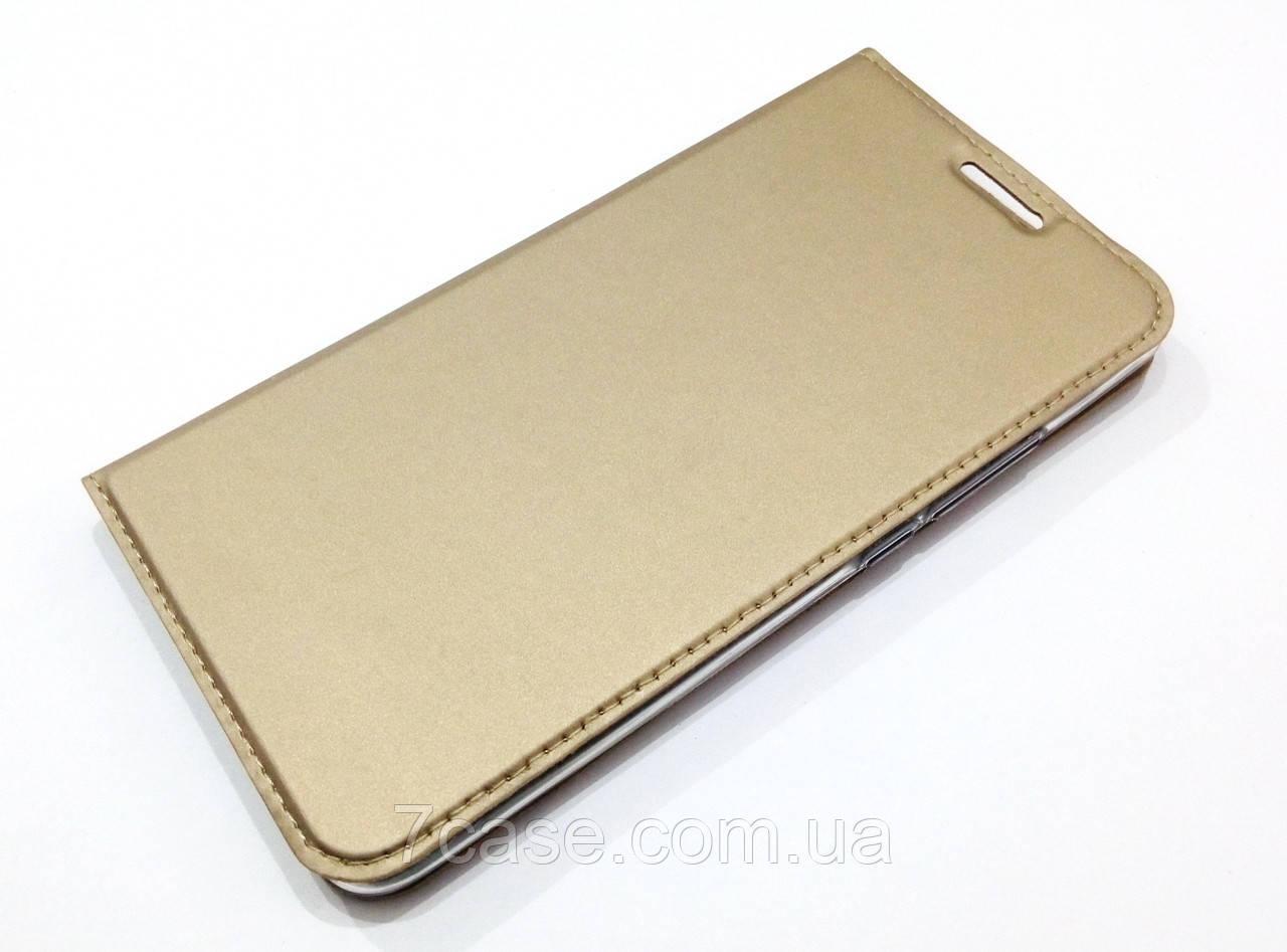 Чехол книжка KiwiS для Meizu Pro 6 Plus золотой