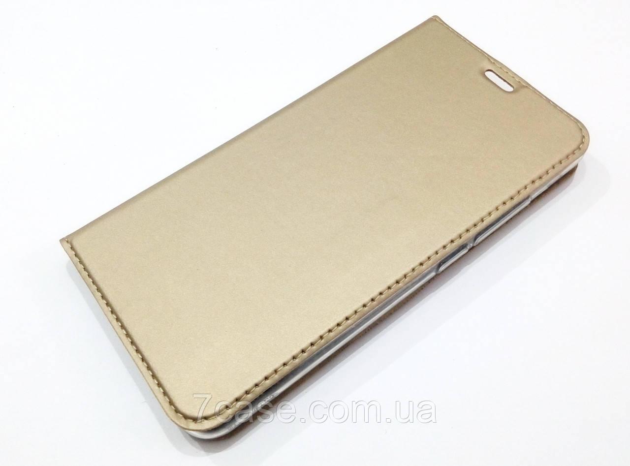 Чехол книжка KiwiS для Meizu M3 Note золотой