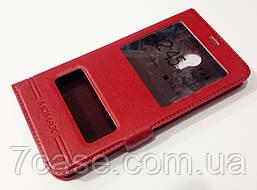 Чехол книжка с окошками momax для Meizu M1 Note red
