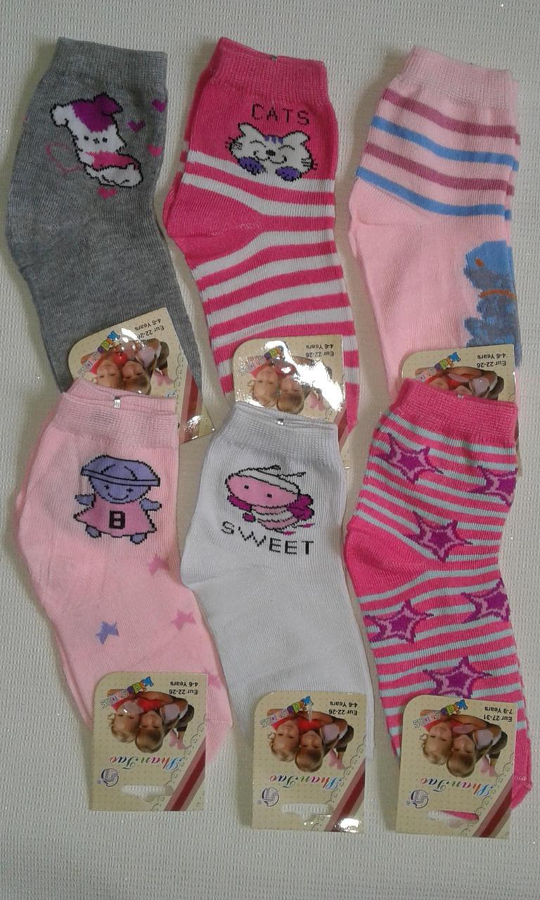Носки детские хлопок+ стрейч, 3-11 лет. От 12 пар по 6,50грн