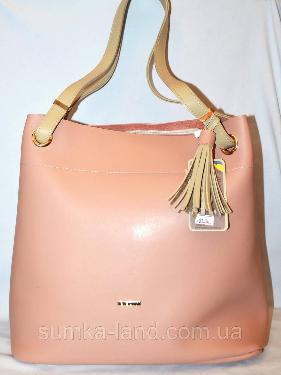 4367e4b7c12e Женская пудровая сумка B Elit с молочными ручками 26 38 см  продажа ...