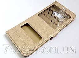Чехол книжка Momax с окошками для Samsung Galaxy S8 Plus G955 золотой