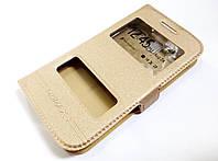Чохол книжка з віконцями Momax для Samsung Galaxy Core i8262 / i8260 золотий