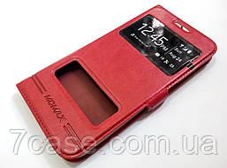 Чехол книжка с окошком для Samsung Galaxy S6 G920 красный