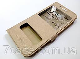 Чехол книжка с окошками momax для Samsung A5 a520 (2017) золотой