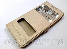 Книжка с окошками momax для Samsung Galaxy A5 a500h (2015) золотой