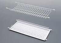 Сушка для посуды в шкаф 400 мм белая полимерная Rejs