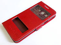 Чохол книжка з віконцями momax для Samsung Galaxy A3 A300 (2015) червоний