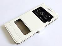 Чехол книжка с окошками momax для Samsung Galaxy A3 A300 (2015) белый