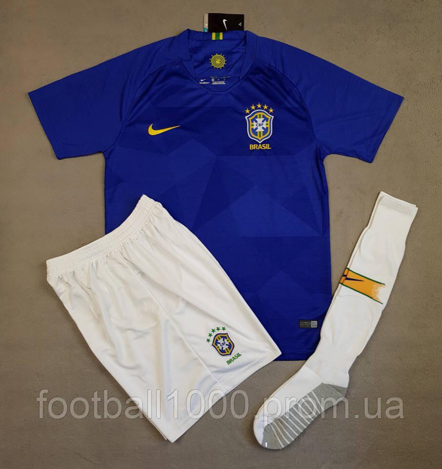 Футбольная форма сборной Бразилии выездная 2018-20