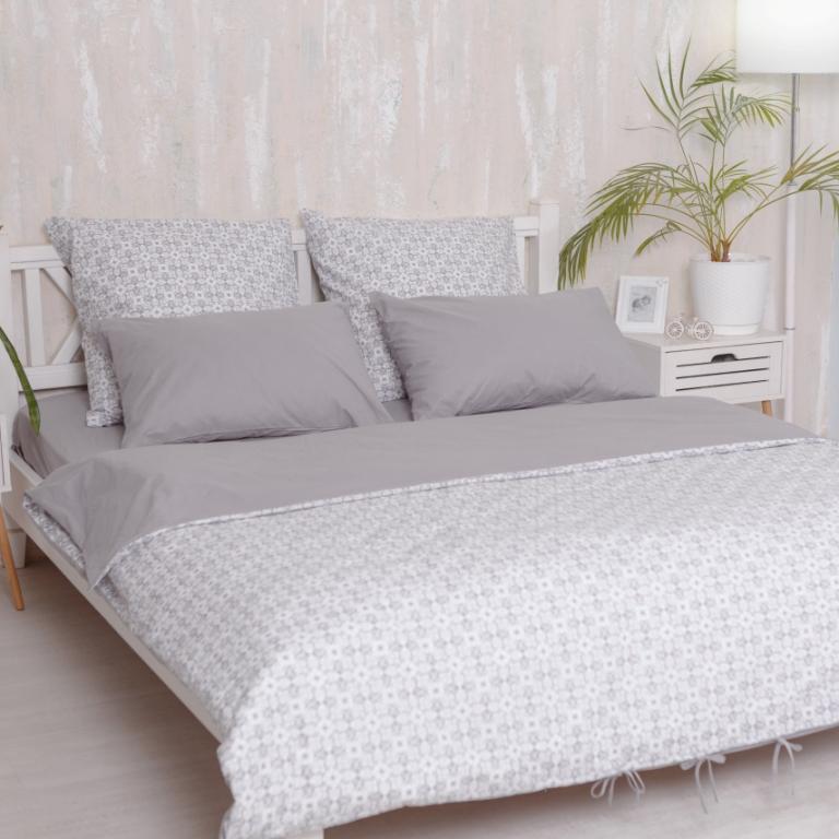 Евро комплект постельного белья Royal Grey