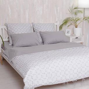 Евро комплект постельного белья Royal Grey, фото 2