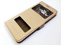 Чохол книжка Momax з віконцями для Samsung Galaxy C5 c5000 золотий