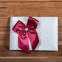 Свадебная книга пожеланий бордового цвета (арт. BW-10)