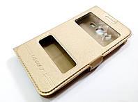 Чохол книжка з віконцями для Samsung Galaxy Core 2 G355 золотий