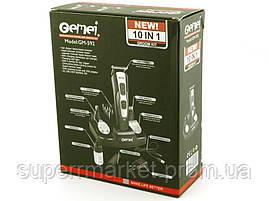 Gemei GM-592 10in1, аккумуляторная машинка для стрижки триммер бритва 10в1, фото 2