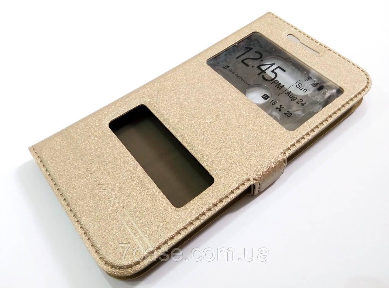 Чохол книжка з віконцями momax для LG G5 золотий