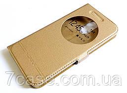 Чехол книжка с окошком Momax для LG K8 2017 x240 золотой