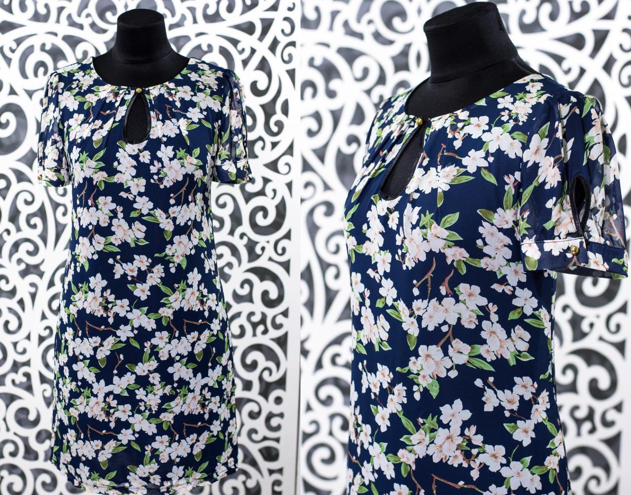 """Шикарное женское платье ткань """"Шифон"""" 52 размер батал"""