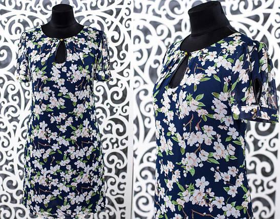 "Шикарное женское платье ткань ""Шифон"" 52 размер батал, фото 2"