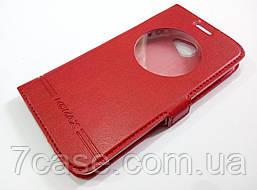 Чехол книжка с окошком momax для LG K5 x220ds красный