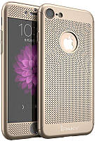 Чехол-накладка Ipaky 360°Protection PC Case with heat-dissipation design iPhone 7 Gold